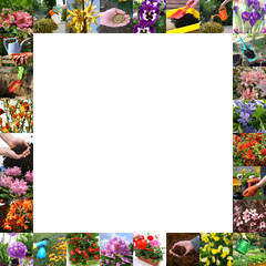 Spring in the garden - colored frame
