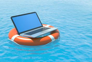 Laptop software rescue.