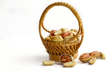 Shelled Peanuts in Basket