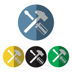 hammer and screwdriver icon