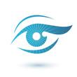 Woman eye logo beauty symbol.