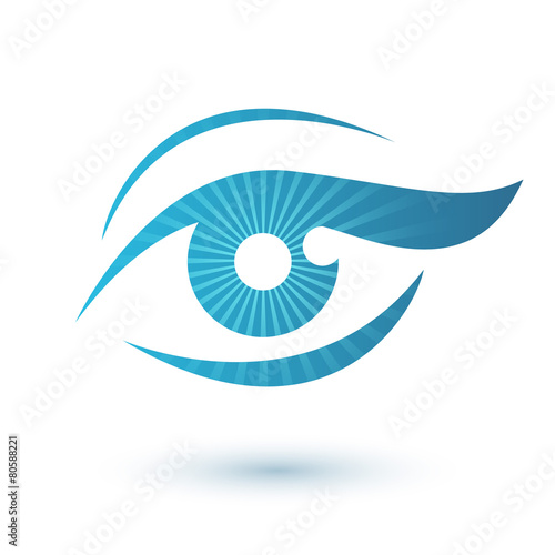 Woman eye logo beauty symbol. - 80588221