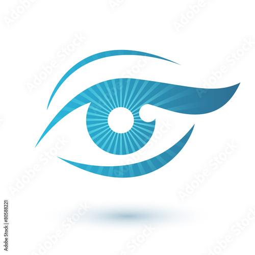 Woman eye logo beauty symbol. - 80588221
