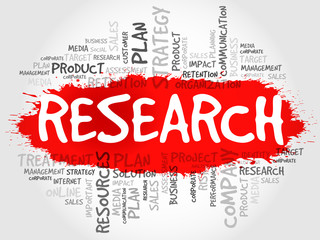 RESEARCH word cloud, business concept