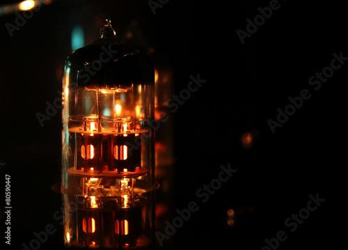 Valve Amplifier close up with copyspace - 80590447