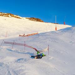 Chute de ski