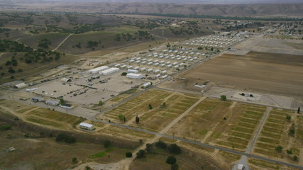 Aerial view of American Military Base