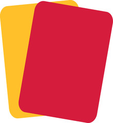 Soccer Football Red Yellow Card