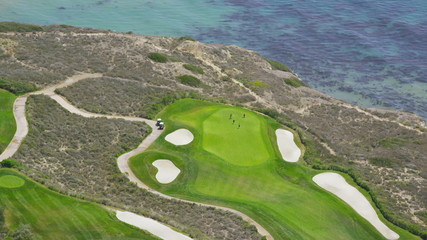 Aerial view of Californian golf course