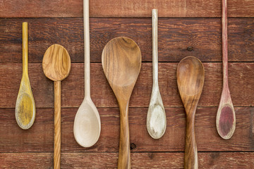 set of wooden spoons