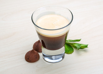 Espresso with candy