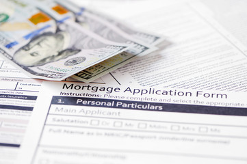contract mortgage bills in the background