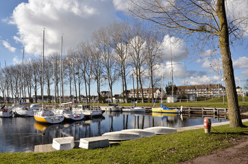 Marina of Ouistreham in France