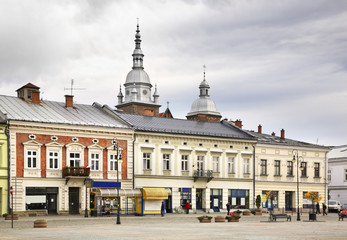 Marketplace in Nowy Sacz. Poland