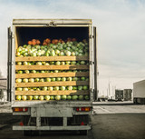 trailer laden with cabbage