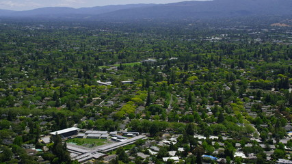Aerial view of Silicon Valley California