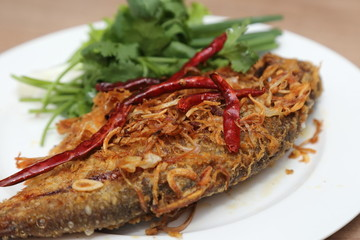 fried pickled fish