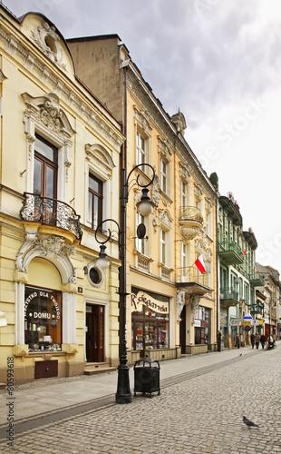 Pedestrian street in Nowy Sacz. Poland