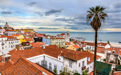View of Lisbon and the Tagus river - Portugal