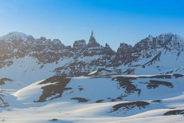 High mountain peak. Beautiful natural landscape