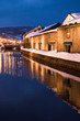 Leinwanddruck Bild - 夜の小樽運河