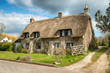 Beautiful thatched cottage at Corfe castle village in Dorset - 80595866