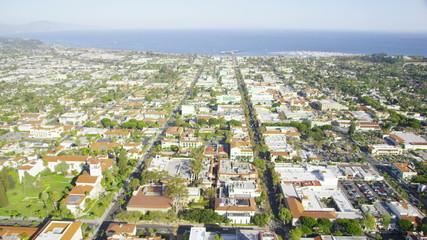 Aerial view of Santa Monica Californian coast