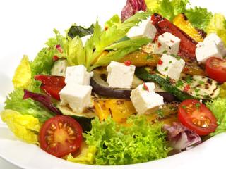 Salat Antipasti mit Feta Käse