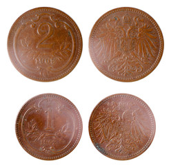two old rare russian coins