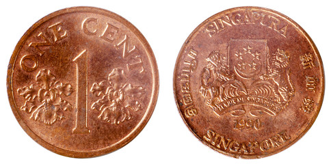 old coin of singapore