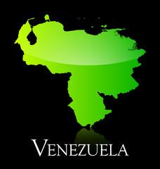 Venezuela green shiny map