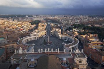 Vista de Roma desde la cúpula del Vaticano.