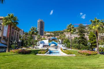 Grand Casino in Mirror in Monte Carlo in Monaco