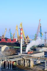 Taganrog port. Rostov region. Russia.