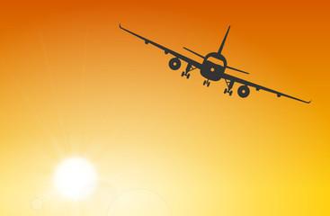 Flugzeug Sonne