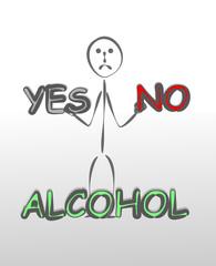 alkole hayır