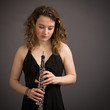 Beautiful Young Female Oboist