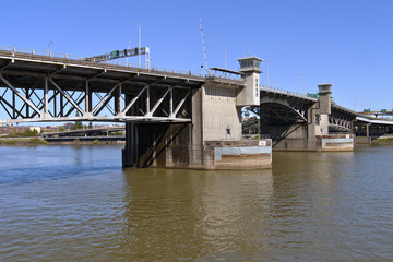 Morrison bridge Portland Oregon.