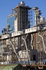 Grain elevators and tower Portland Oregon.