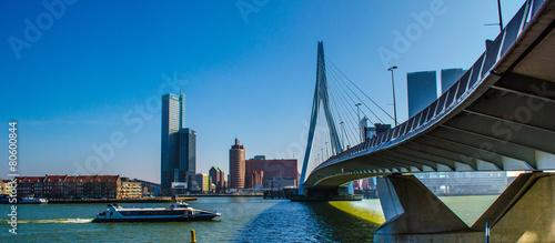 Fotobehang Brug Rotterdam Erasmus