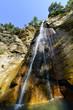 waterfall over rocks on Goekceada island, Turkey - 80601065