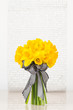 Vivid yellow daffodil bouquet