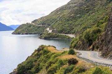 Road next to Lake Wakatipu
