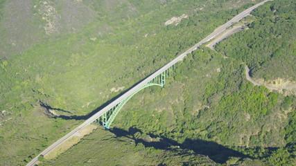 Aerial view of road bridge in California State