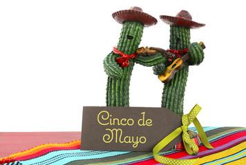 Cinco de Mayo concept with Cactus Mariachi Band