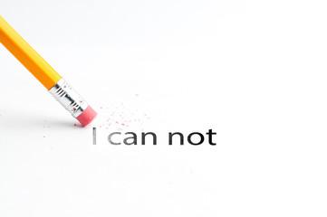 Pencil with eraser