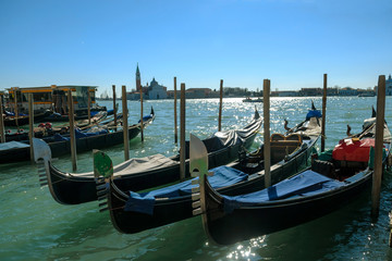 Grand Canal with historic buildings in Venice - Italy
