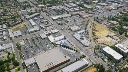 Aerial San Francisco City Bay area intersection