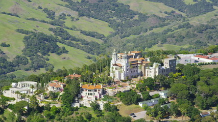 Aerial view of Hearst Castle, California