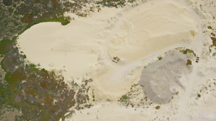 Aerial view of Californian sand and soil